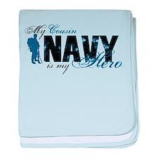 Cousin Hero3 - Navy baby blanket