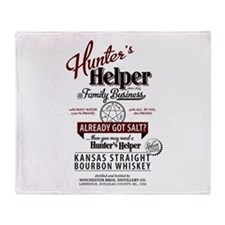 Hunter's Helper - White (1) Throw Blanket