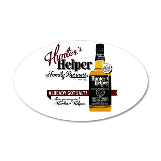 Hunter's Helper - White (2) 38.5 x 24.5 Oval Wall