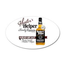 Hunter's Helper - White (2) 22x14 Oval Wall Peel
