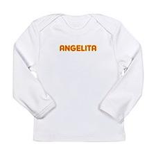 Angelita in Movie Lights Long Sleeve Infant T-Shir