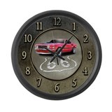 Route 66 Mustang Large Wall Clock
