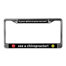See A Chiropractor! License Plate Frame