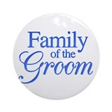 Family of the Groom (blue) Ornament (Round)