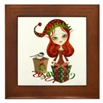 Jollybelle Christmas Elf Framed Tile