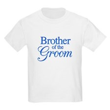 Brother of the Groom (blue) Kids T-Shirt