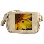 Ladybugs on Flowers Messenger Bag