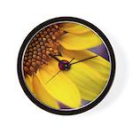 Ladybugs on Flowers Wall Clock