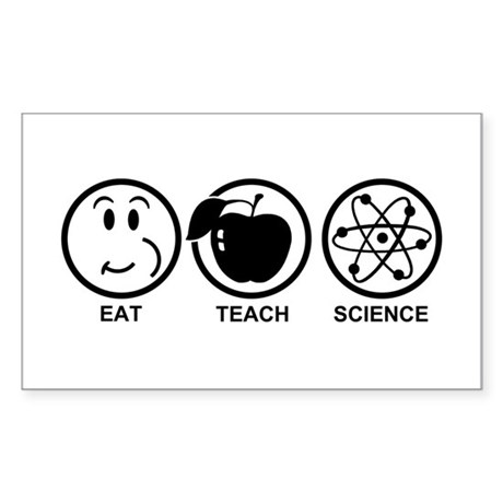 Science Teacher Sticker (Rectangle)