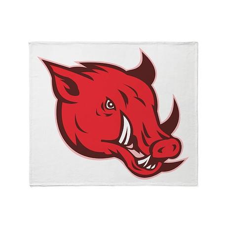 wild pig razorback Throw Blanket