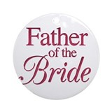 Father of the Bride (wine) Ornament (Round)