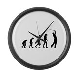 Evolution golfing Large Wall Clock