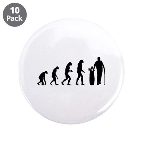 "Evolution golfing 3.5"" Button (10 pack)"