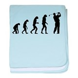 Evolution golfing baby blanket