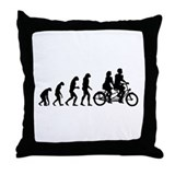Evolution tandem Throw Pillow