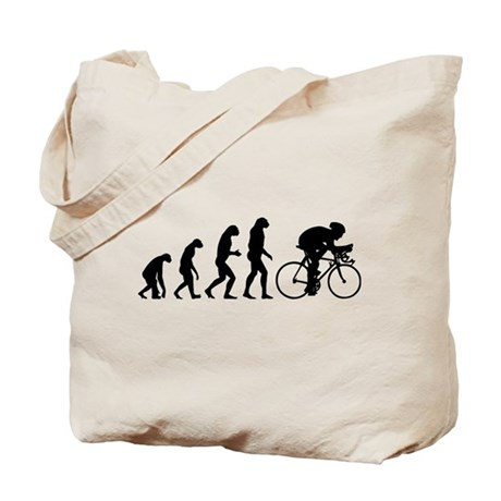 Evolution cyclist Tote Bag
