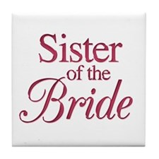 Sister of the Bride (wine) Tile Coaster