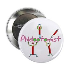 """phlebotomist III 2.25"""" Button (10 pack)"""