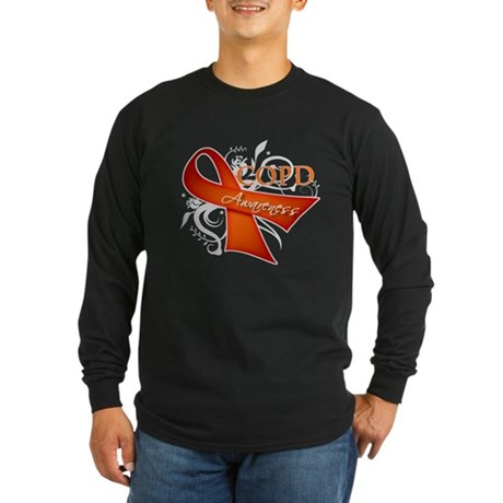 COPD Awareness Long Sleeve Dark T-Shirt