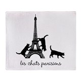 Cats of Paris Throw Blanket