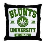 BLUNTS UNIVERSITY ALUMNI Throw Pillow
