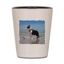 BOSTON TERRIER OCEAN PUPPY Shot Glass