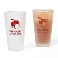 Drummers Drinking Glass