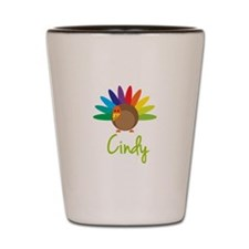 Cindy the Turkey Shot Glass