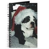 BOSTON TERRIER SANTA Journal