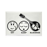 Eat Sleep Bluegrass Rectangle Magnet