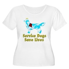 Service Dogs Save Lives Women's Plus Size Scoop Ne for