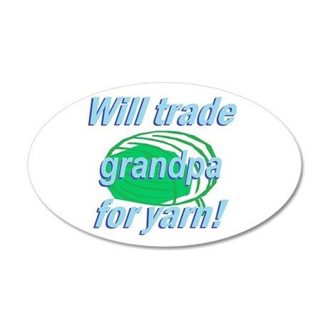 Trade Grandpa 22x14 Oval Wall Peel
