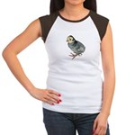 Turkey Poult Blue Slate Women's Cap Sleeve T-Shirt