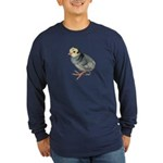 Turkey Poult Blue Slate Long Sleeve Dark T-Shirt