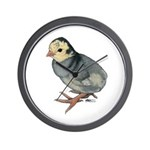 Turkey Poult Blue Slate Wall Clock