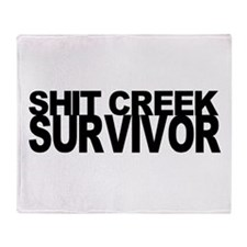 Shit Creek Survivor Throw Blanket
