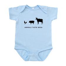 Animals Taste Good Infant Bodysuit
