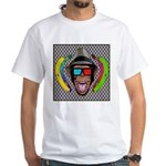 CHECKERBOARD CHIMPSTER White T-Shirt