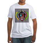 CHECKERBOARD CHIMPSTER Fitted T-Shirt