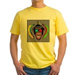 CHECKERBOARD CHIMPSTER Yellow T-Shirt