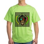 CHECKERBOARD CHIMPSTER Green T-Shirt