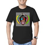 CHECKERBOARD CHIMPSTER Men's Fitted T-Shirt (dark)