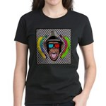 CHECKERBOARD CHIMPSTER Women's Dark T-Shirt