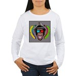CHECKERBOARD CHIMPSTER Women's Long Sleeve T-Shirt