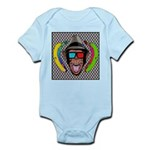 CHECKERBOARD CHIMPSTER Infant Bodysuit