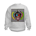 CHECKERBOARD CHIMPSTER Kids Sweatshirt