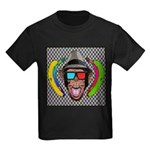 CHECKERBOARD CHIMPSTER Kids Dark T-Shirt