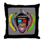 CHECKERBOARD CHIMPSTER Throw Pillow