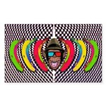 CHECKERBOARD CHIMPSTER Sticker (Rectangle)