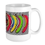CHECKERBOARD CHIMPSTER Large Mug